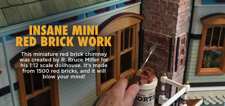 1:12 Scale Red Brick Chimney created by R. Bruce Miller
