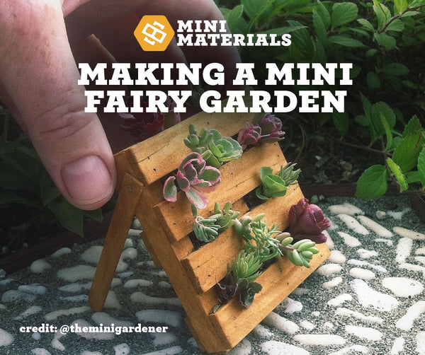 Mini fairy garden pallet plants