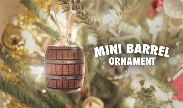 mini barrel ornament