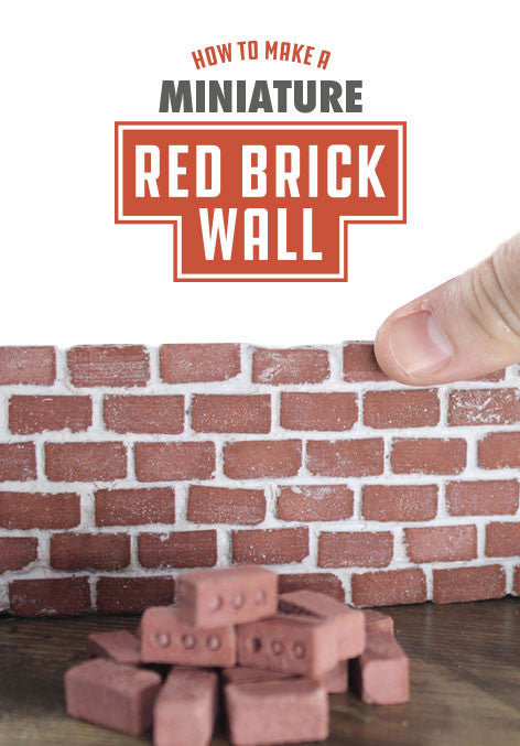 mini red brick wall how to