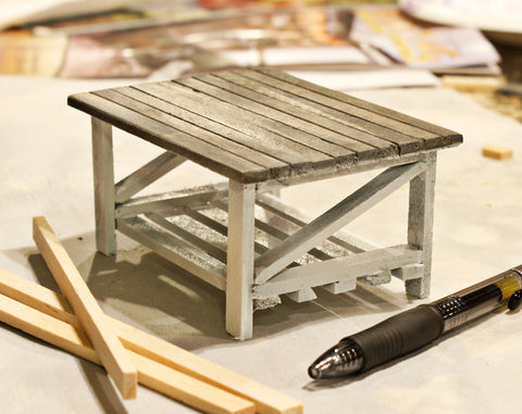 miniature rustic chic coffee table