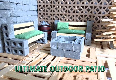 MINI MATERIALS MINIATURE OUTDOOR PATIO