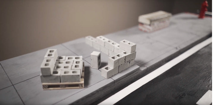 Miniature Building Materials in 1:12 Scale