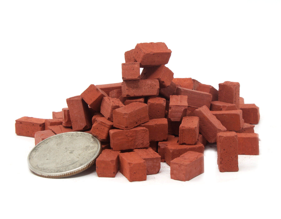 1:18 Scale Miniature Red Bricks 100 pack
