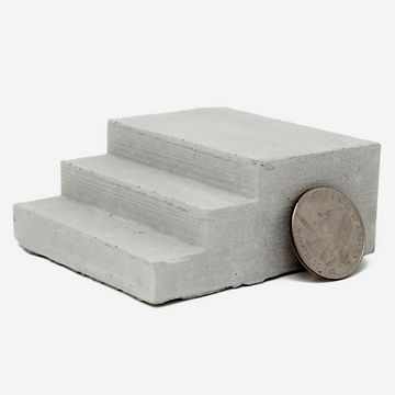 1:18 Scale Miniature Concrete Steps