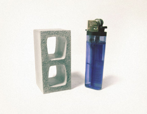 1:6 Scale Miniature Cinder Blocks - 1 Pack