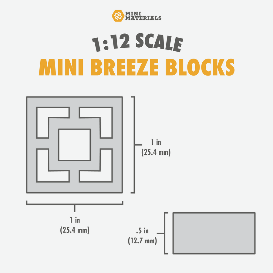 1:12 Scale Mini Breeze Block Pallet (24pk) - Empress