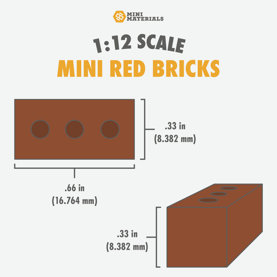 1:12 Scale Mini Red Brick Mold