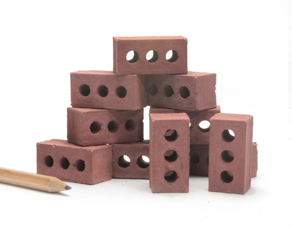 1:6 Scale Mini Red Bricks (10pk)
