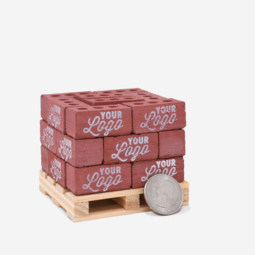 Custom Printed 1:6 Scale Mini Red Bricks on Pallet
