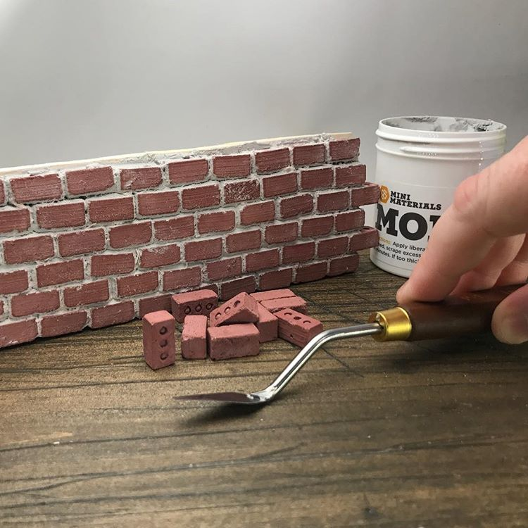 1:12 Scale Mini Half Red Bricks (20pk)