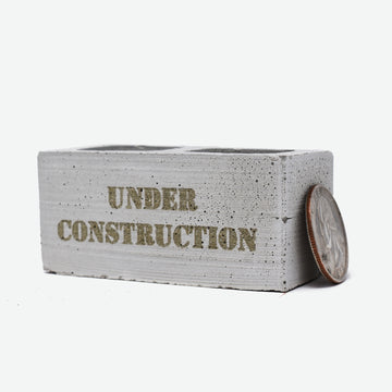 1:6 scale mini cinder block with the words