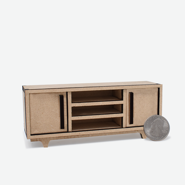 1:12 Scale Mini Mid-Century Modern Sideboard (Unfinished)
