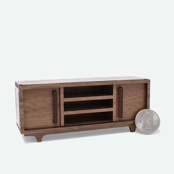 1:12 Scale Mini Mid-Century Modern Sideboard (Walnut)
