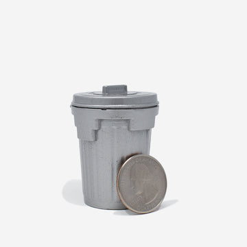 1:12 Scale Metal Trash Can with Lid