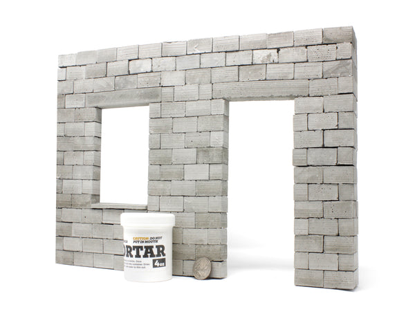 Miniature Cinder Block Facade Kit