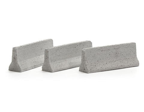 1:50 Scale Jersey Barriers (Set of Three)