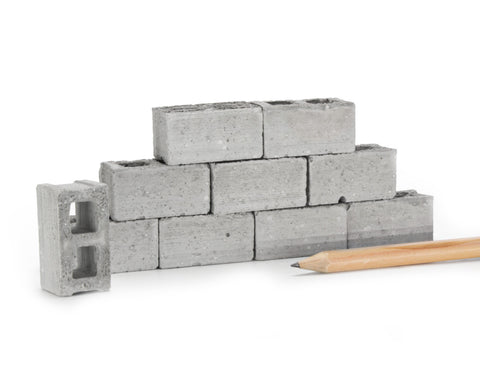 1:12 Scale Mini Cinder Blocks (10pk)
