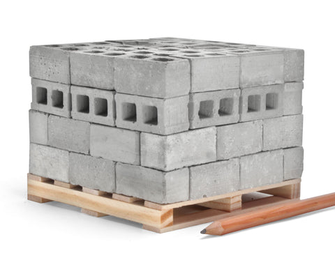 1:12 Scale Mini Cinder Blocks (72pk + Pallet)
