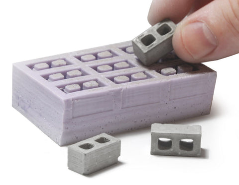 1:24 Scale Cinder Block Mold