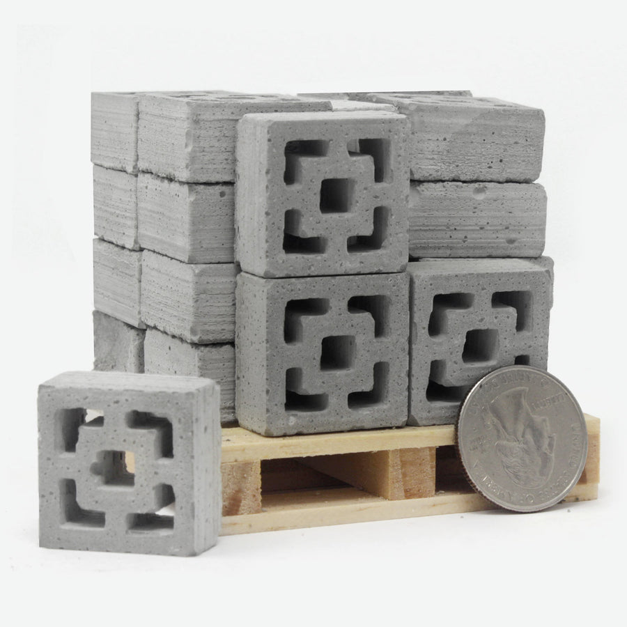 1:12 Scale Mini Breeze Block Pallet (24pk) - Vista Vue