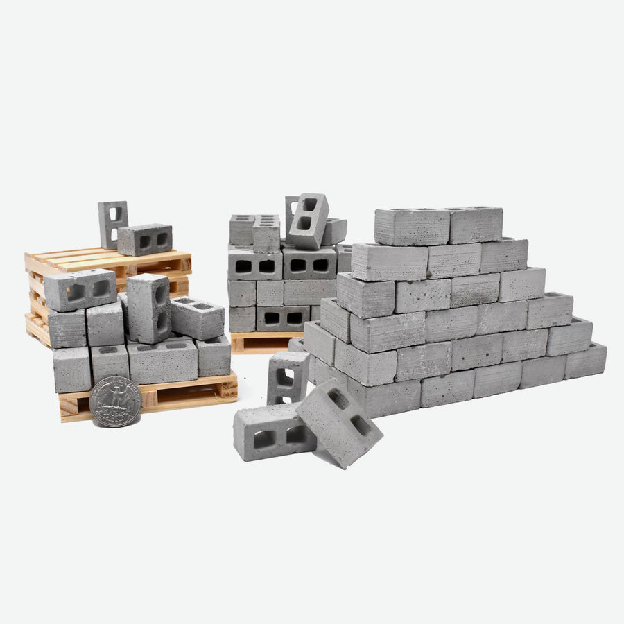 1:12 Scale Mini Cinder Block Pallet (50pk)