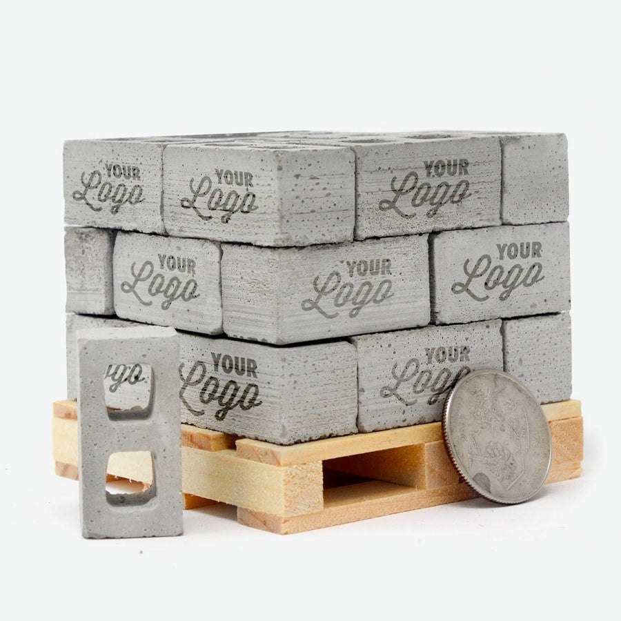 24 miniature 1:12 scale cinder blocks with