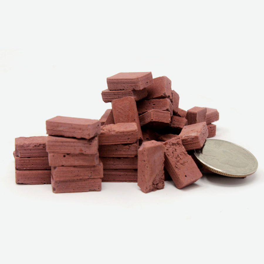 1:12 Scale Mini Red Brick Paver (50pk)