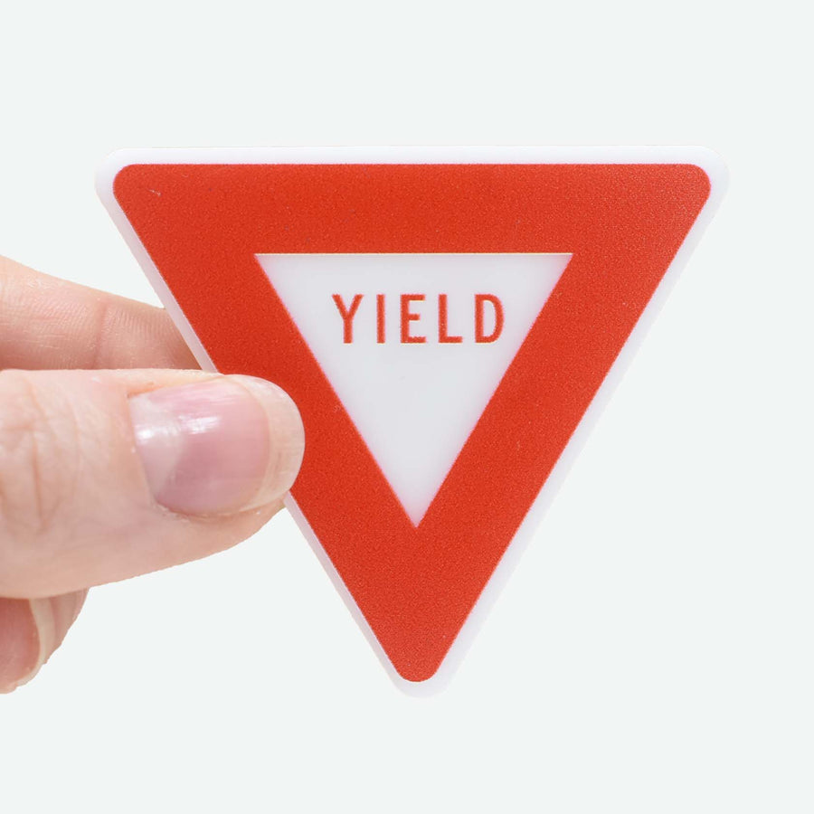 1:12 Scale Miniature Yield Sign