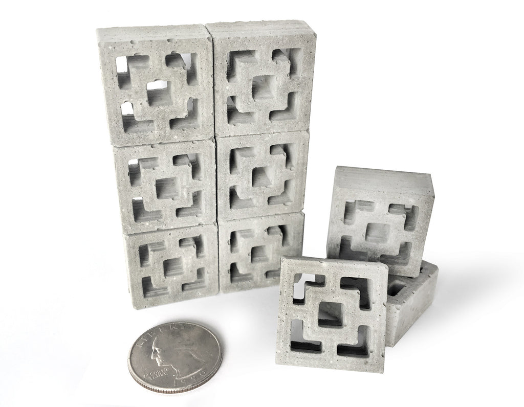 1:12 Scale Mini Vista Vue Breeze Blocks (9pk)