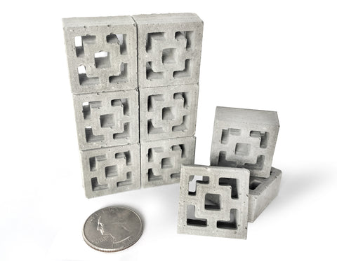 1:12 Scale Miniature Breeze Blocks 9pk