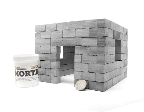 Miniature Cinder Block House Kit