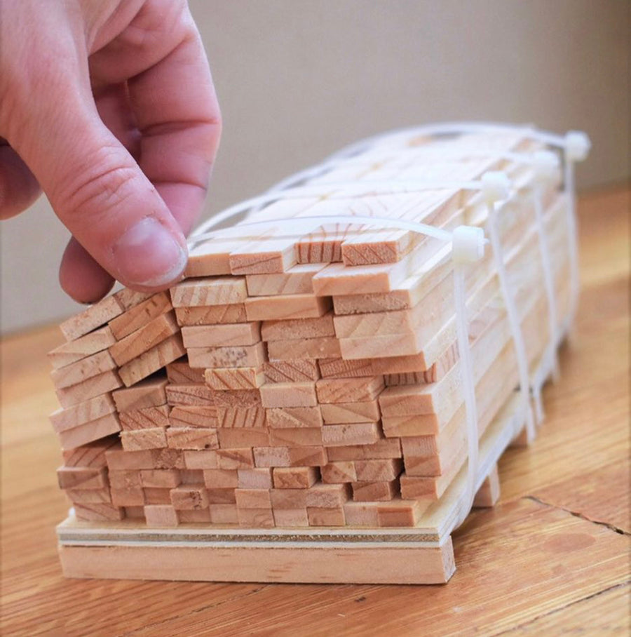 1:12 Scale Mini Lumber - 4x4 (Dozen)