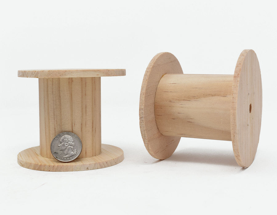 1:12 Scale Miniature Wooden Cable Spools