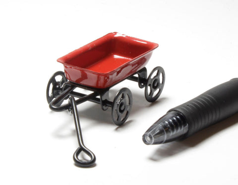 1:18 Scale Miniature Red Wagon
