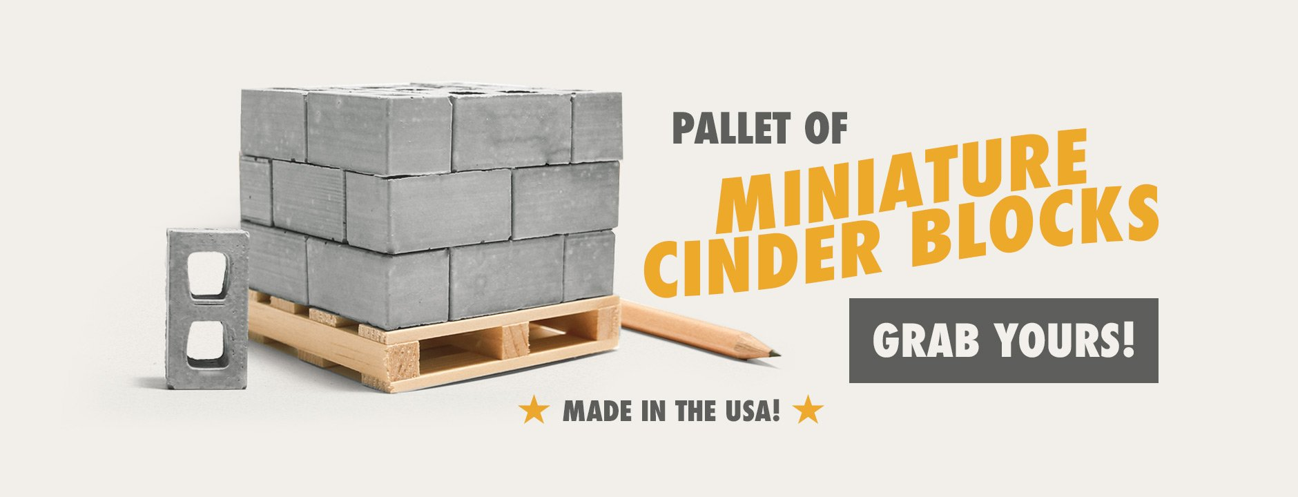 pallet of mini cinder blocks