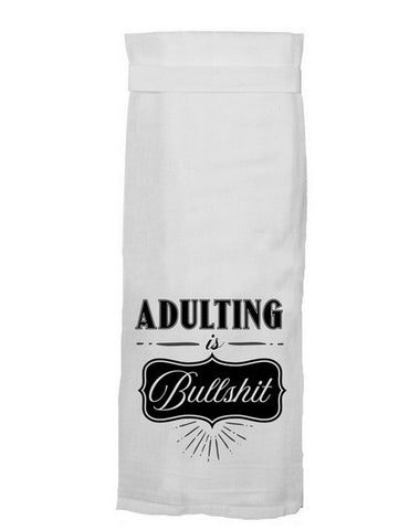 ADULTING IS BS HANG TOWEL