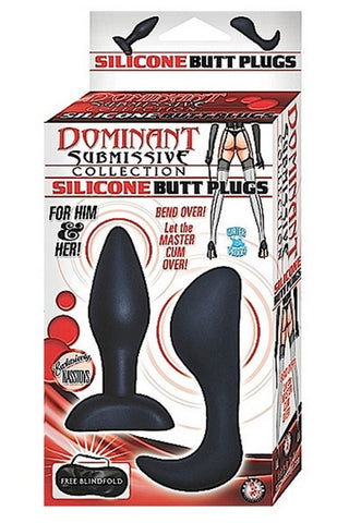 DOMINANT SUBMISSIVE SILICONE ANAL PLUGS