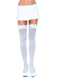 CURVY OVER THE KNEE THIGH HIGH WITH BOW ACCENT - CURVY HOSIERY - Intimate Treasures™