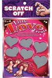 LITTLE LOVE TREAT SCRATCH OFF LOTTO CARDS
