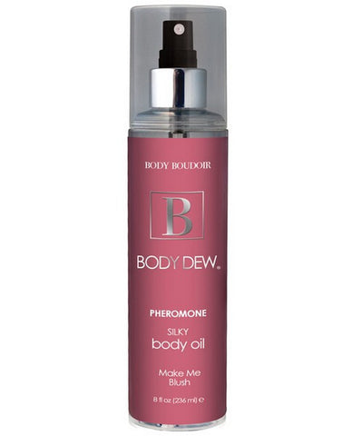 BODY DEW SILKY BODY OIL WITH PHEROMONES BLUSH 8OZ