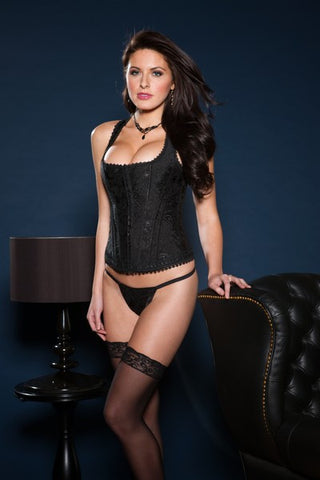 BROCADE RACER BACK CORSET - Lingerie - Intimate Treasures™ - 1