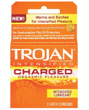TROJAN INTENSIFIED CHARGED CONDOMS 3 PACK