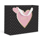 PINK LOVE HEART SMALL GIFT BAG