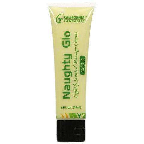 NAUGHTY GLO GLOW IN THE DARK PINA COLADA MASSAGE CREAM 2OZ