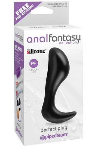 ANAL PERFECT PLUG SILICONE BLACK