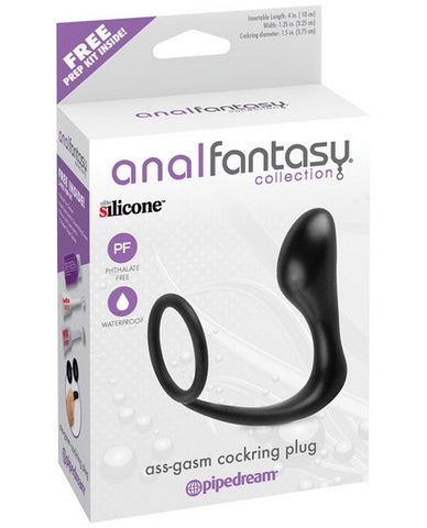 ANAL FANTASY COLLECTION ASS GASM COCK RING AND PLUG