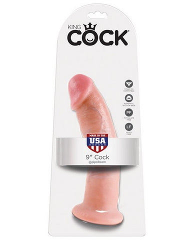 KING COCK 9IN DILDO FLESH