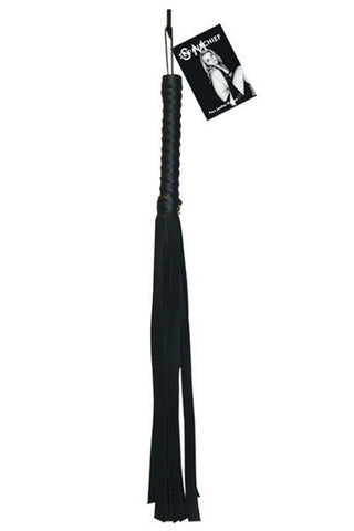 SEX & MISCHIEF BLACK FAUX LEATHER FLOGGER