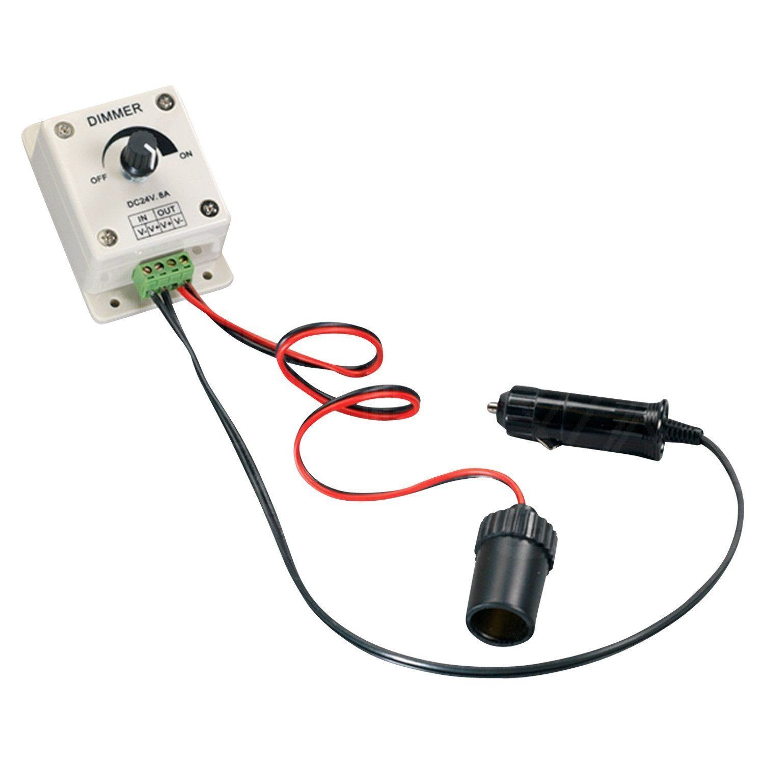 Surprising A1Bdim Dimmer Switch 12V Dc 8 Amp Led Compatible Elimadent Wiring Cloud Tobiqorsaluggs Outletorg